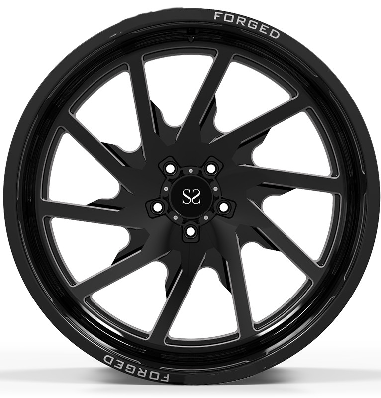 Customized Off Rad Rims 24x12 and 24x14 Gloss Black Machined Deep Lip 4x4 Wheels Rimrs